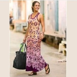 Athleta XS dip dye maxi dress passed bust